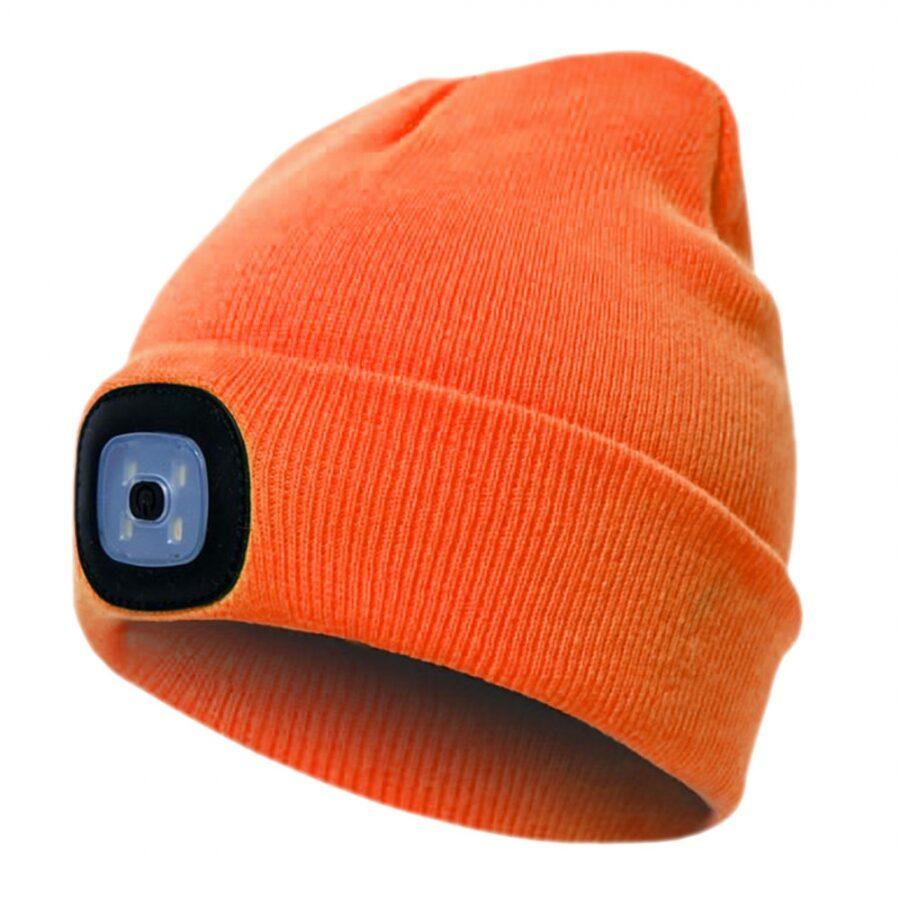 Pesso Beanie cepure ar USB uzlādējamu LED gaismu