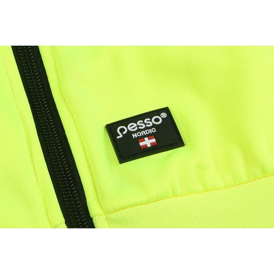 Augstas redzamības džemperis ar kapuci Pesso FL03, dzeltens