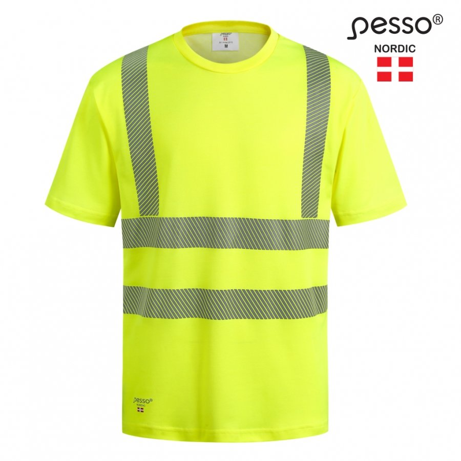 Augstas redzamības T-krekls Pesso HI-VIS HVM COTTON