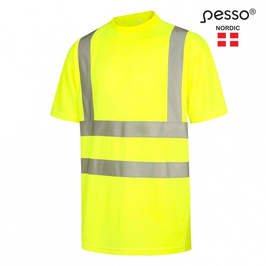 Augstas redzamības T-krekls ar īsām piedurknēm Pesso HI-VIS HVMG