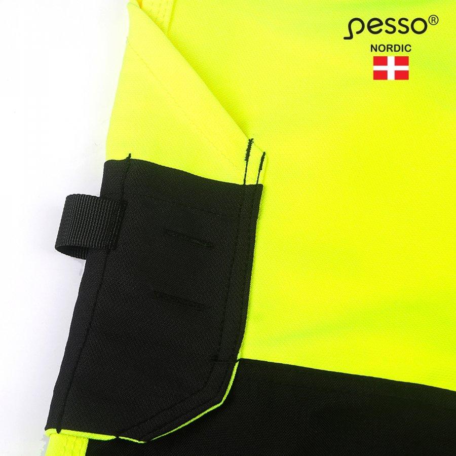 Augstas redzamības bikses Pesso Uranus Flexpro 135, dzeltenas