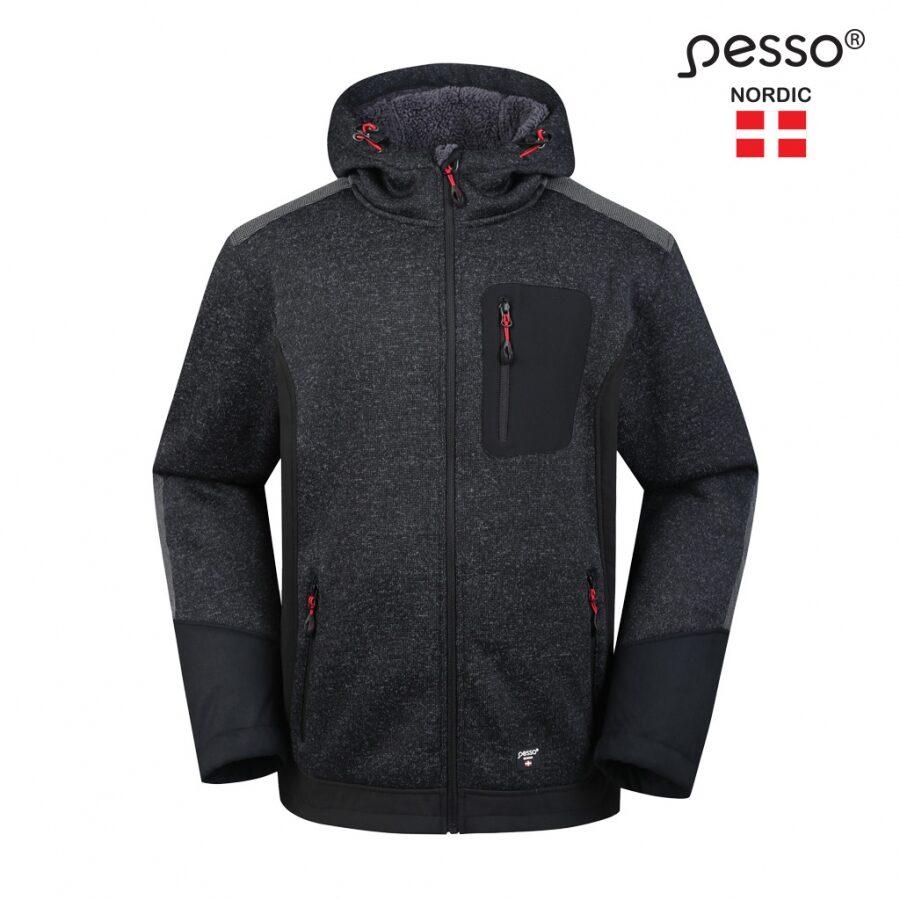 Moderna dizaina āra / iekštelpu kapuces jaka Pesso Oregon, melna