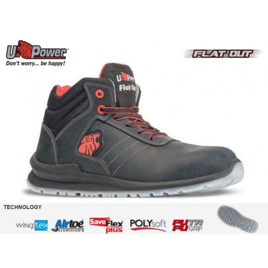 Drošības apavi WALTER S3 SRC U-Power Jaunākā kolekcija FLAT OUT