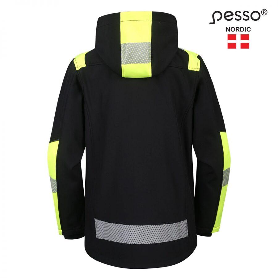 Softshell jaka Pesso Astra, melna/dzeltena