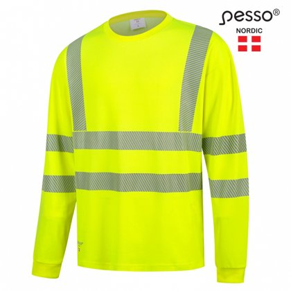 Augstas redzamības džemperis ar garām piedurknēm Pesso HI-VIS