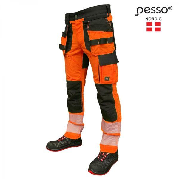 Augstas redzamības bikses Pesso Uranus Flexpro 135, oranžas