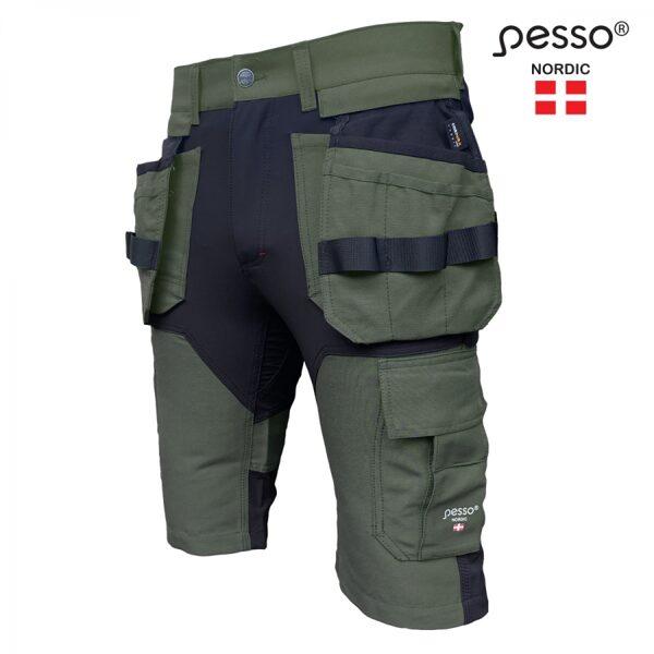 Darba apģērba šorti Pesso Titan Flexpro 125, HAKI