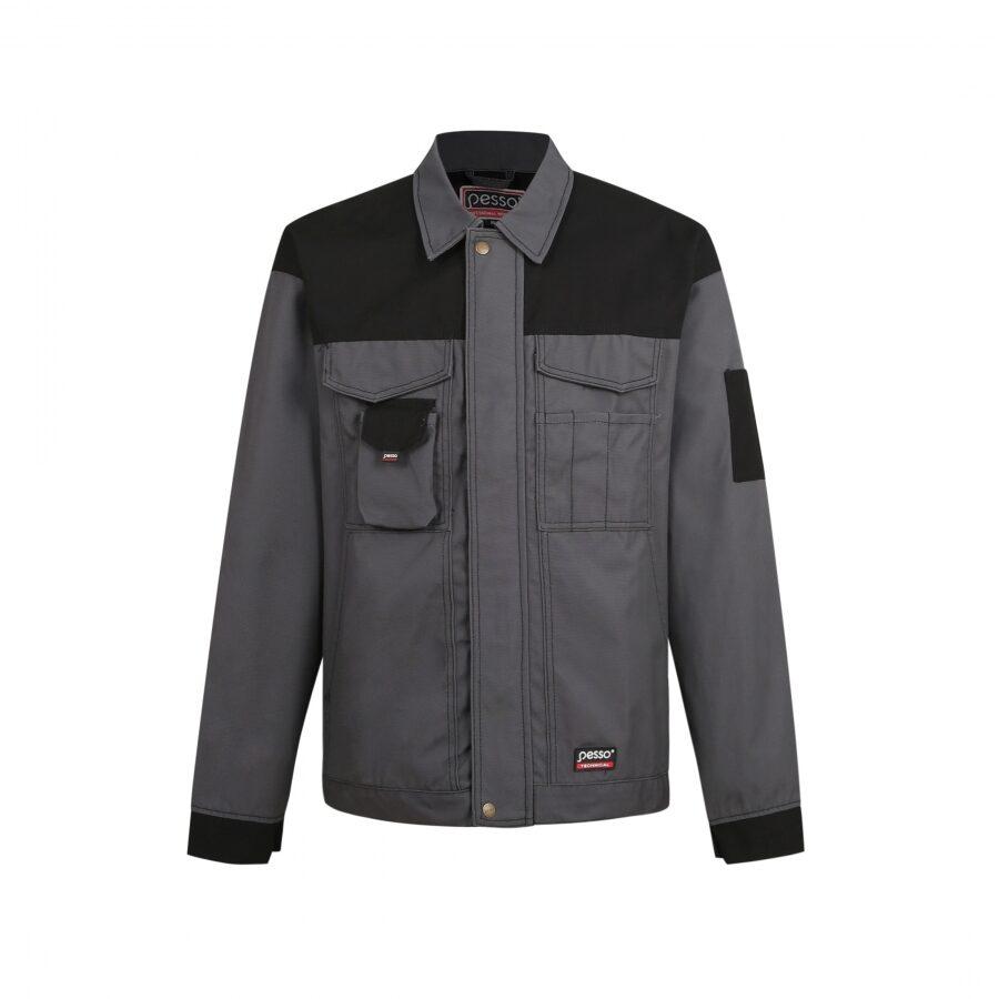 Darba apģērba jaka Pesso Canvas, pelēka